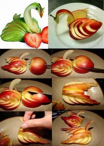 Красивая нарезка яблок пошагово